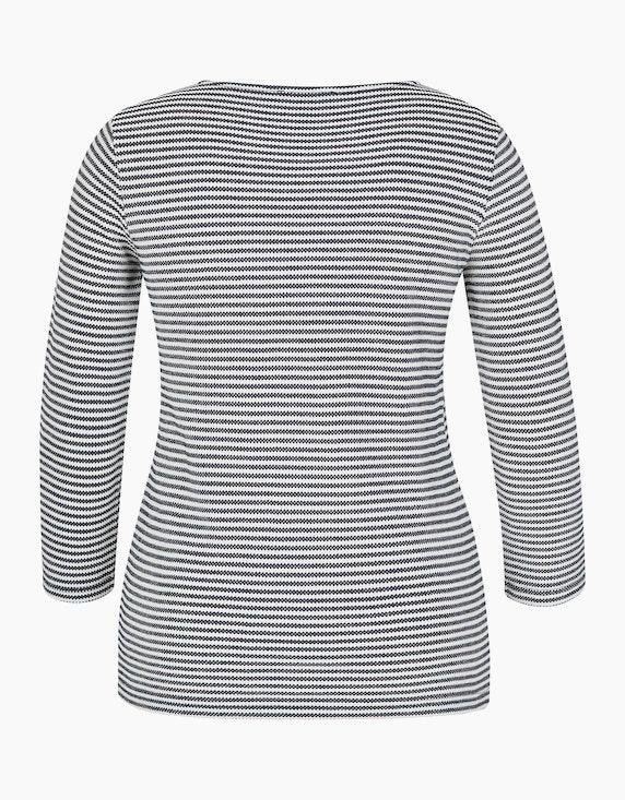 Bexleys woman Gestricktes Jacquard Shirt mit modischem Ringel und Strasssteinen | ADLER Mode Onlineshop