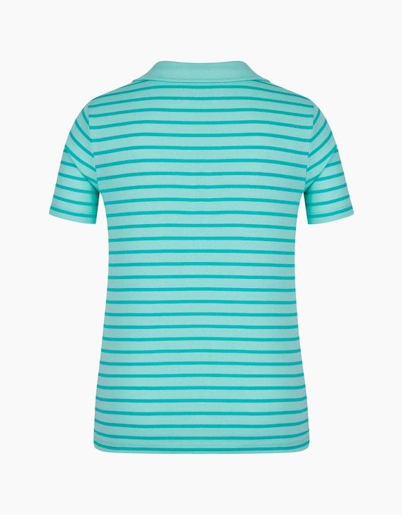 Bexleys woman gestreiftes kurzarm Poloshirt aus Organic Cotton | ADLER Mode Onlineshop