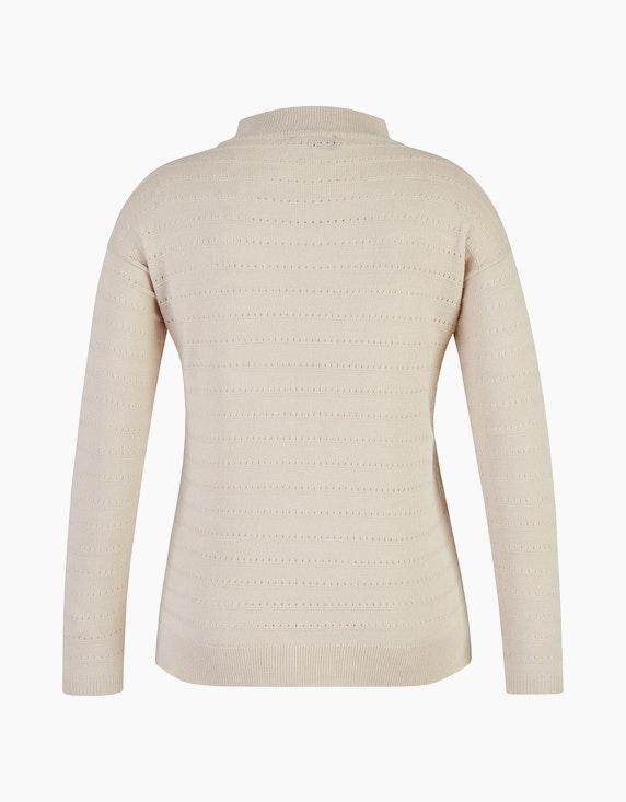 Bexleys woman Pullover mit Lochmuster-Streifen | ADLER Mode Onlineshop