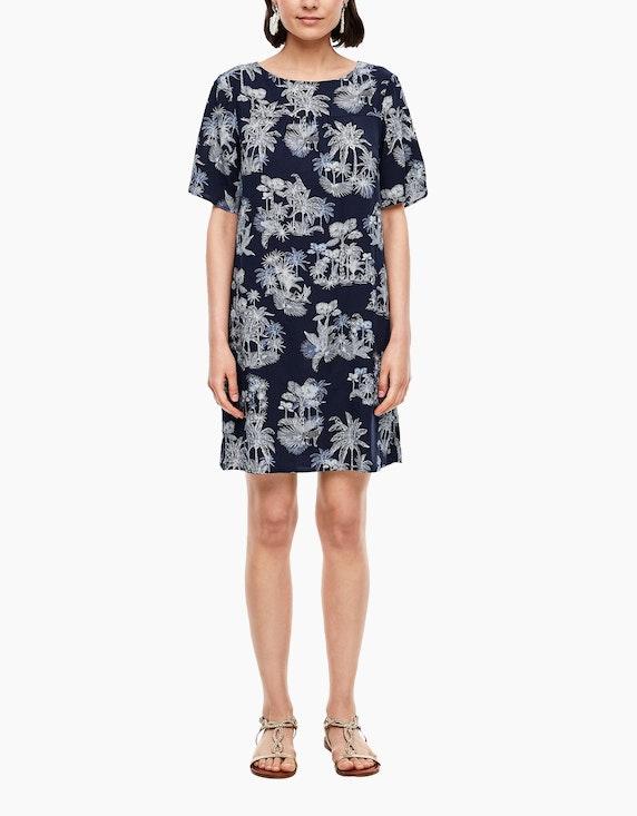 s.Oliver Popeline-Kleid mit floralem Muster | ADLER Mode Onlineshop