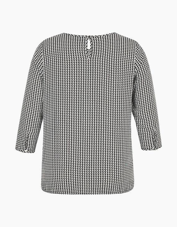Bexleys woman Shirtbluse mit Allover-Print und elastischem Bündchen | ADLER Mode Onlineshop
