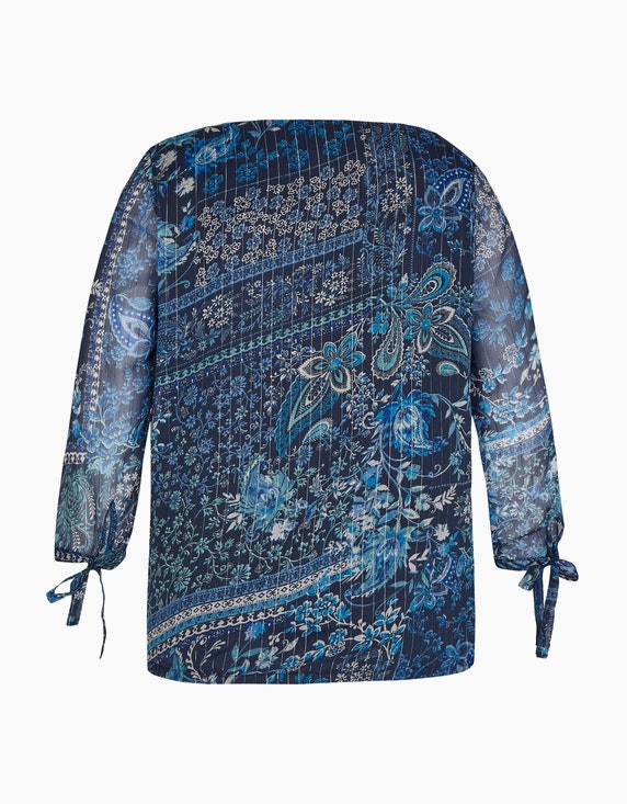 Bexleys woman Chiffon-Bluse mit ganzflächigem Blumendruck | ADLER Mode Onlineshop
