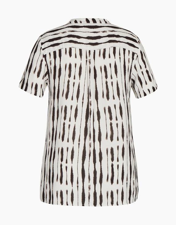 Bexleys woman gemusterte Bluse mit V-Ausschnitt | ADLER Mode Onlineshop
