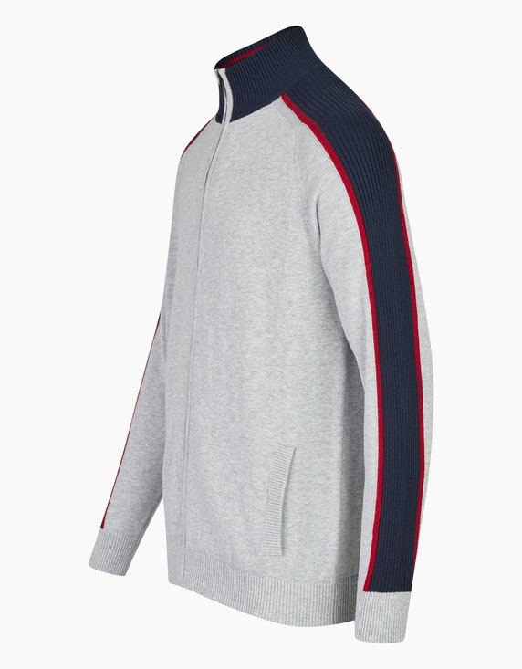 Bexleys man Strickjacke mit farbiger Schulterpasse   ADLER Mode Onlineshop