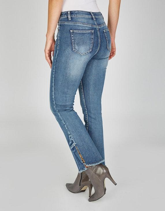 MY OWN 5-Pocket-Jeans mit ausgestelltem Bein und Fransen | ADLER Mode Onlineshop