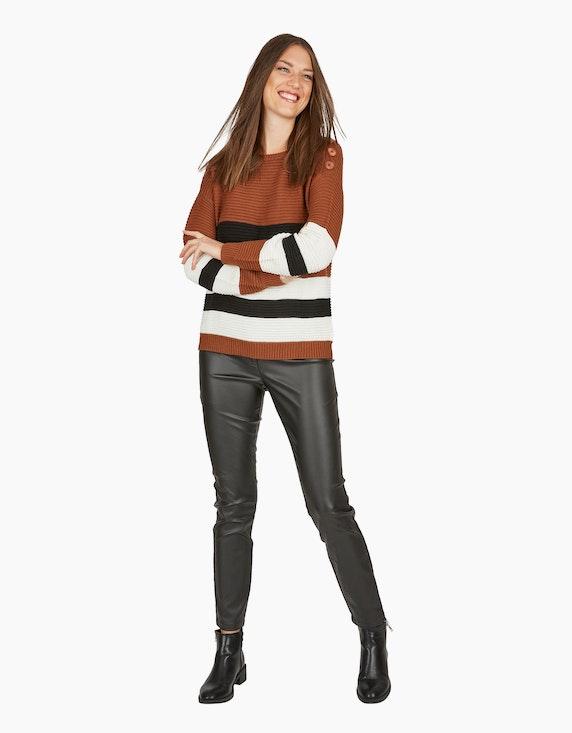 MY OWN Strick-Pullover mit breiten Streifen | ADLER Mode Onlineshop