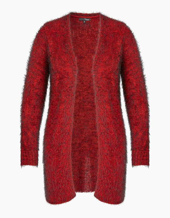 MY OWN Flauschige Jacke in offener Form in Rot/Schwarz | ADLER Mode Onlineshop