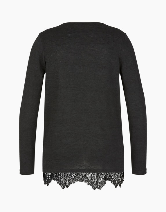 MY OWN Plissee-Blusenshirt mit Spitze | ADLER Mode Onlineshop
