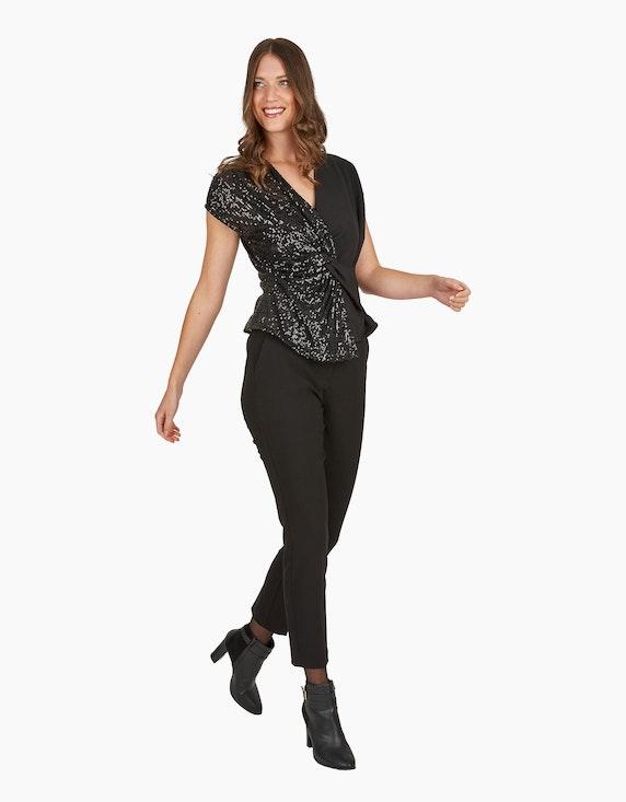 Viventy Festliches Shirt mit Pailletten und Knoten-Detail   ADLER Mode Onlineshop
