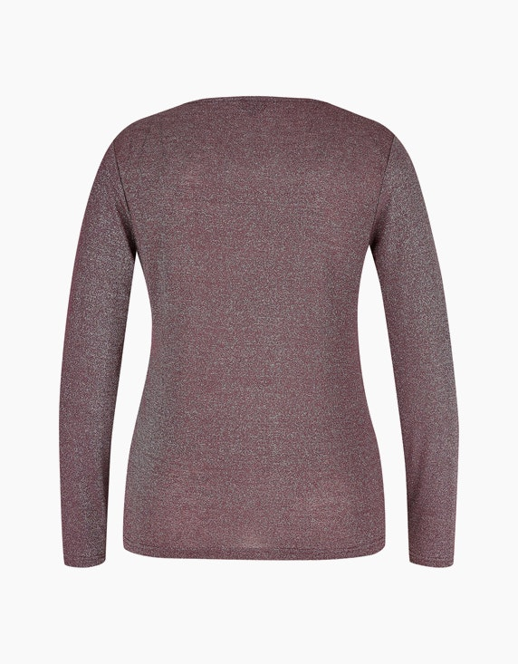 Viventy Glitzer-Shirt mit Knoten-Detail   ADLER Mode Onlineshop