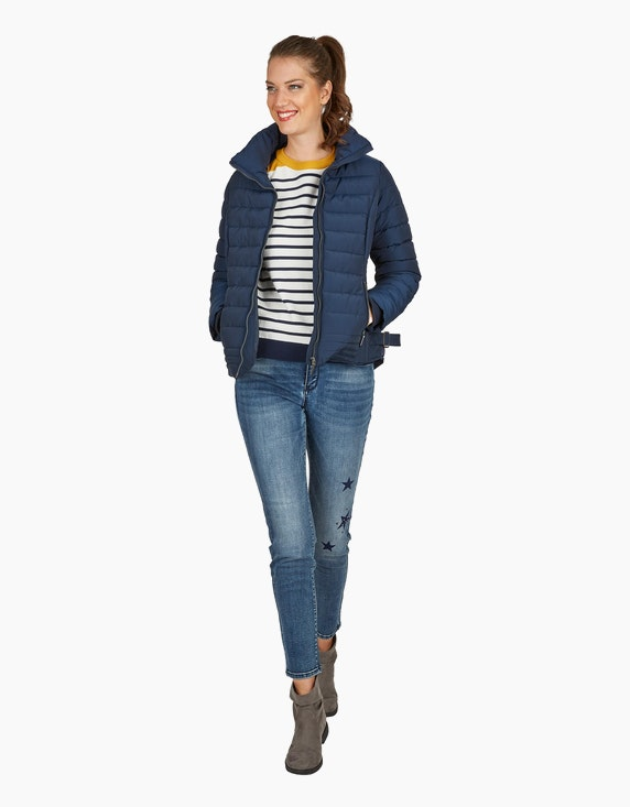Via Cortesa Steppjacke mit Stehkragen in taillierter Form in Marine | ADLER Mode Onlineshop