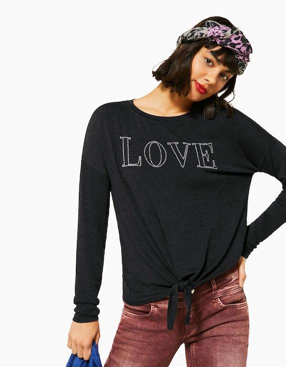 Street One Shirt mit Steinchen-Deko | ADLER Mode Onlineshop
