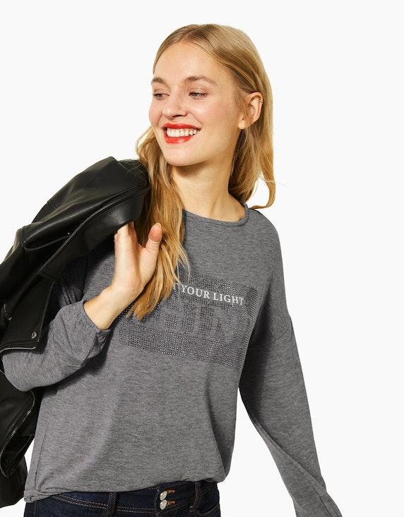 Street One Shirt mit Strass-Print   ADLER Mode Onlineshop