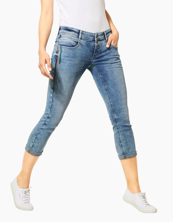 Street One Jeans-Hose mit Deko-Stickerei, 7/8 Länge, Crissi | ADLER Mode Onlineshop