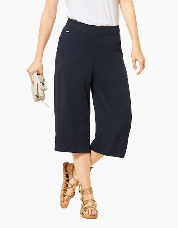 Street One Culotte-Hose mit weitem Bein, 3/4 Länge, reine Viskose   ADLER Mode Onlineshop