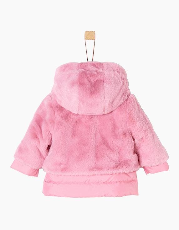 s.Oliver Baby Girls Teddy-Mantel mit Stepp-Layering | ADLER Mode Onlineshop