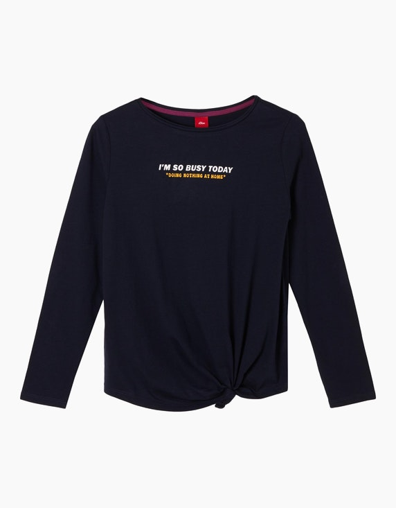 s.Oliver Girls Jerseyshirt mit Statement-Print | ADLER Mode Onlineshop