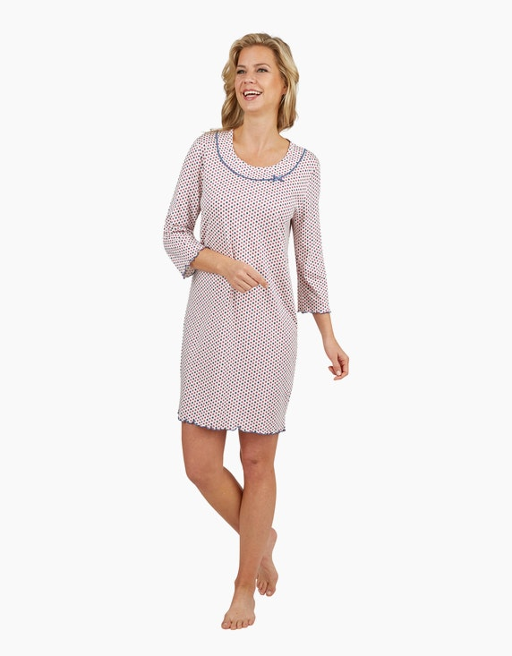 Bexleys woman Nachthemd mit ganzflächigem Punkte-Druck | ADLER Mode Onlineshop