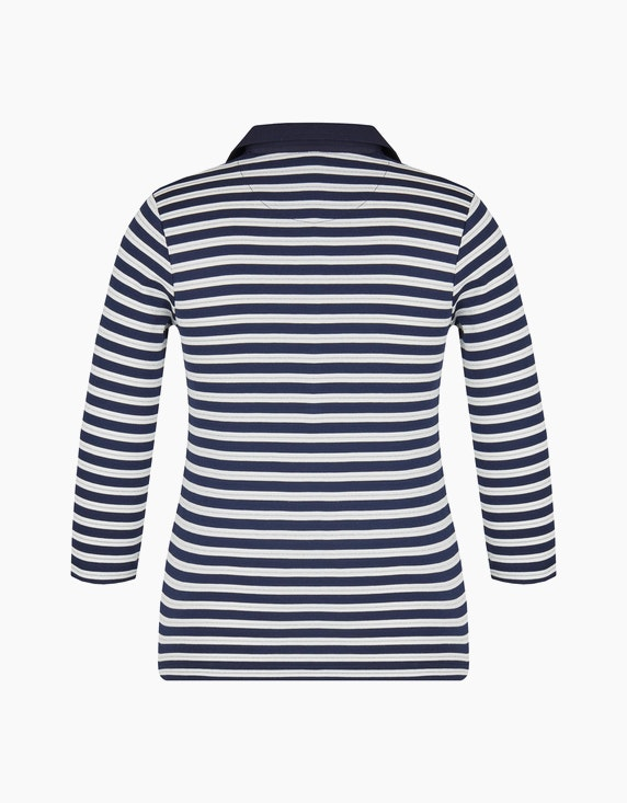 Bexleys woman gestreiftes Poloshirt mit 3/4 Arm | ADLER Mode Onlineshop
