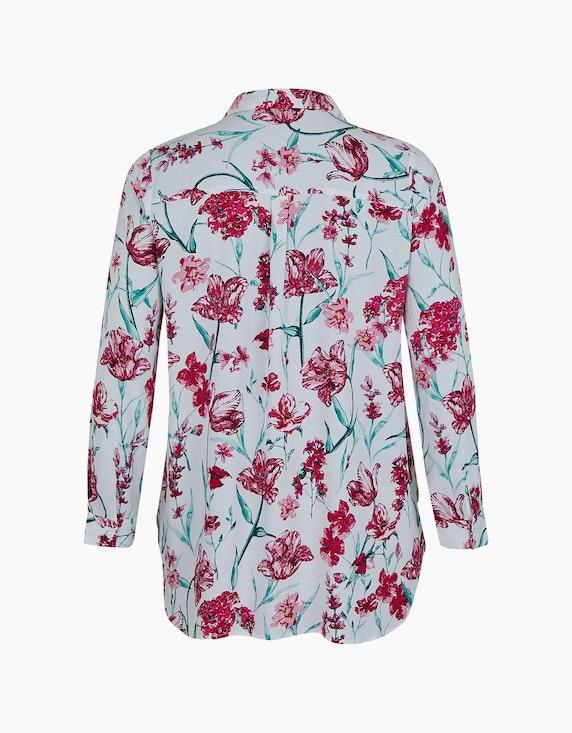 Thea Hemdbluse mit floralem Muster, reine Viskose | ADLER Mode Onlineshop