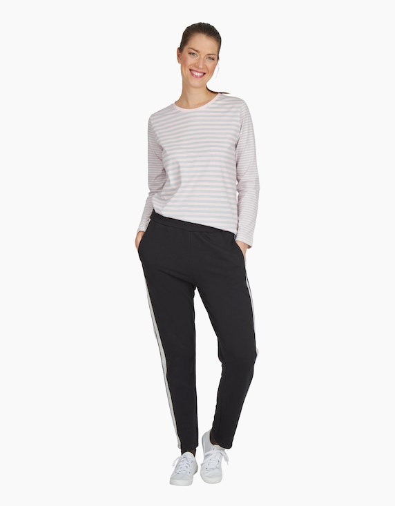 Via Cortesa Jersey-Joggpants mit Galonstreifen | ADLER Mode Onlineshop