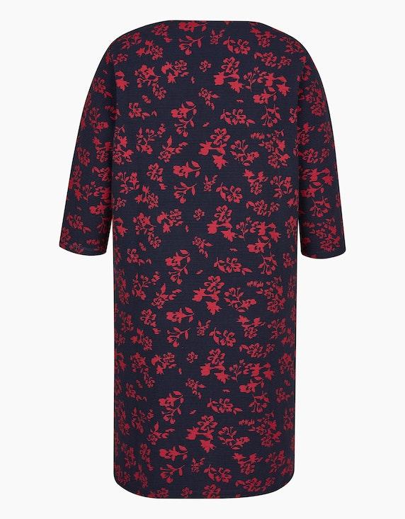 Thea Kleid in Ottoman-Struktur und Blumenprint | ADLER Mode Onlineshop