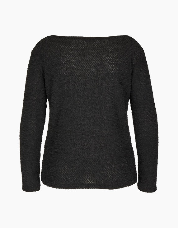 Via Cortesa Unifarbener Chenille-Pullover | ADLER Mode Onlineshop