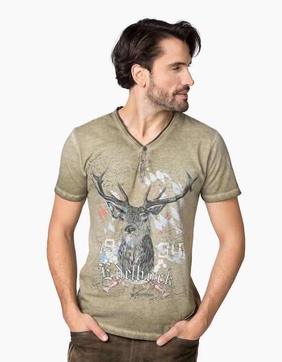 Stockerpoint Trachten T-Shirt mit Druck   ADLER Mode Onlineshop