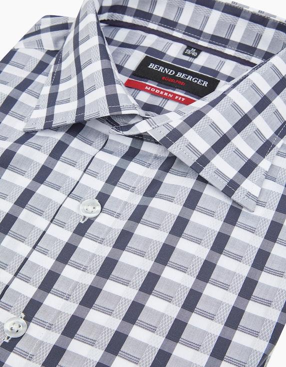 Bernd Berger Kariertes Dresshemd mit Langarm, MODERN FIT | ADLER Mode Onlineshop