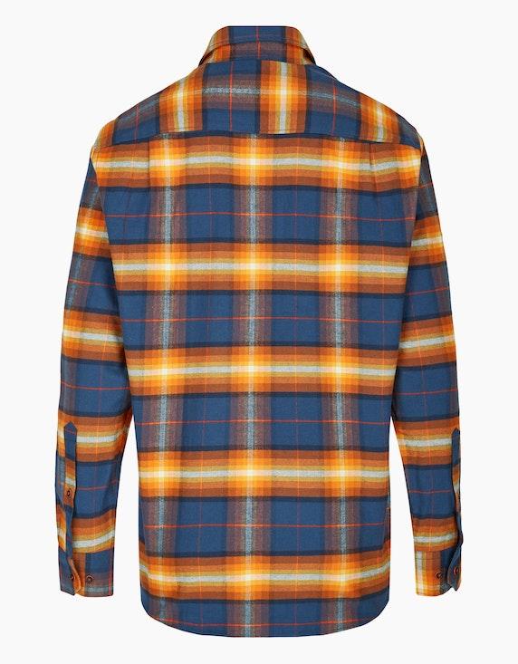 Jupiter kariertes Flanellhemd mit geknöpfter Brusttasche | ADLER Mode Onlineshop