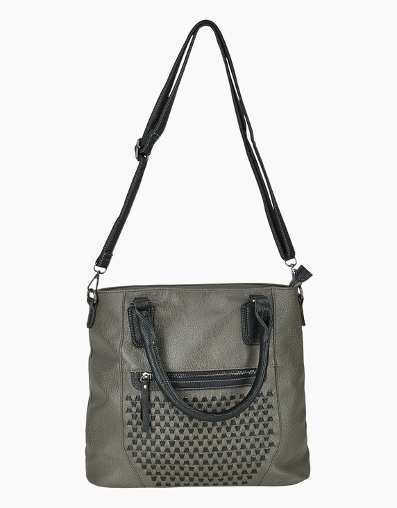 Conti Zweifarbige Handtasche mit Fronmuster | ADLER Mode Onlineshop