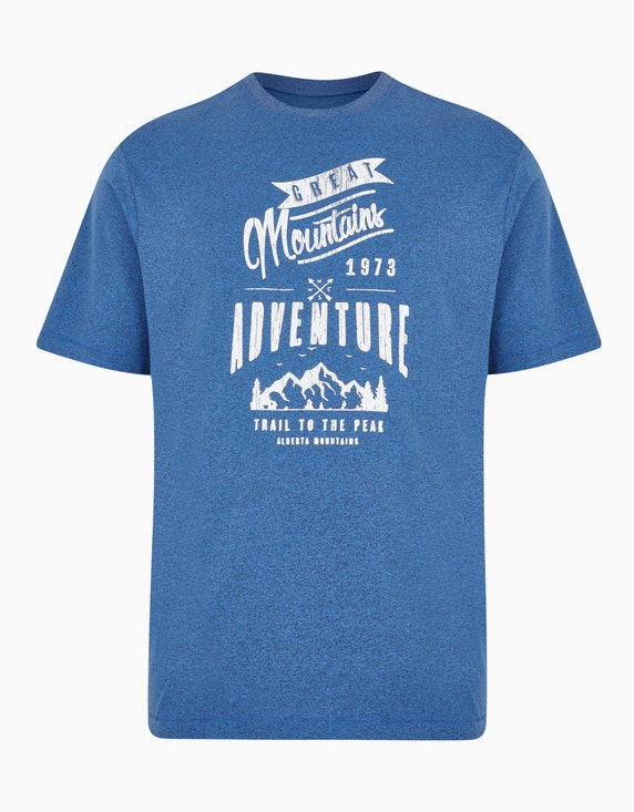 Big Fashion Rundhalsshirt mit Print in Blau | ADLER Mode Onlineshop