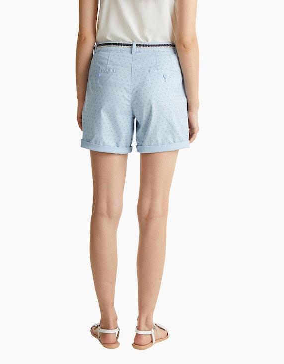 Esprit Baumwoll-Shorts mit Blümchen-Print und Flechtgürtel | ADLER Mode Onlineshop