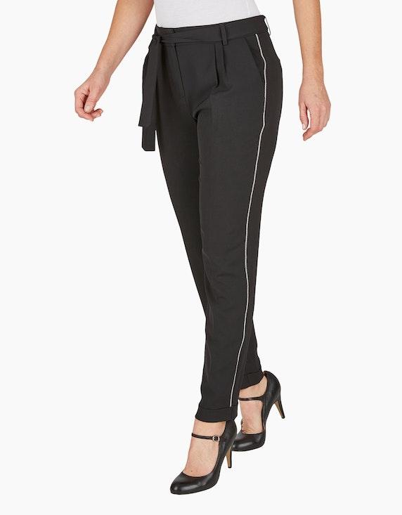Bexleys woman Hose mit Gürtel und Kugelketten-Besatz | ADLER Mode Onlineshop