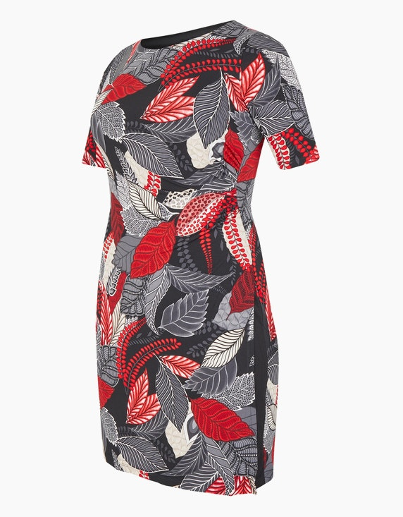 Bexleys woman Jerseykleid mit Druck und Drapierung | ADLER Mode Onlineshop