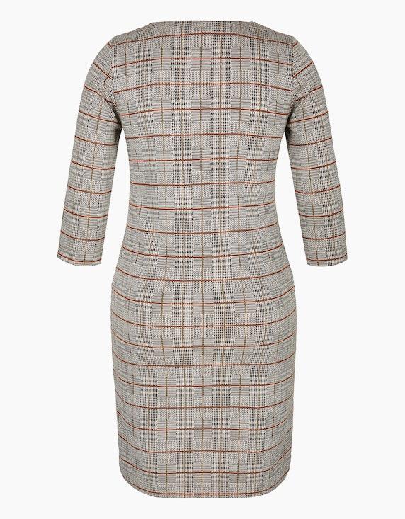 Bexleys woman Karo-Kleid aus Jacquard-Jersey | ADLER Mode Onlineshop