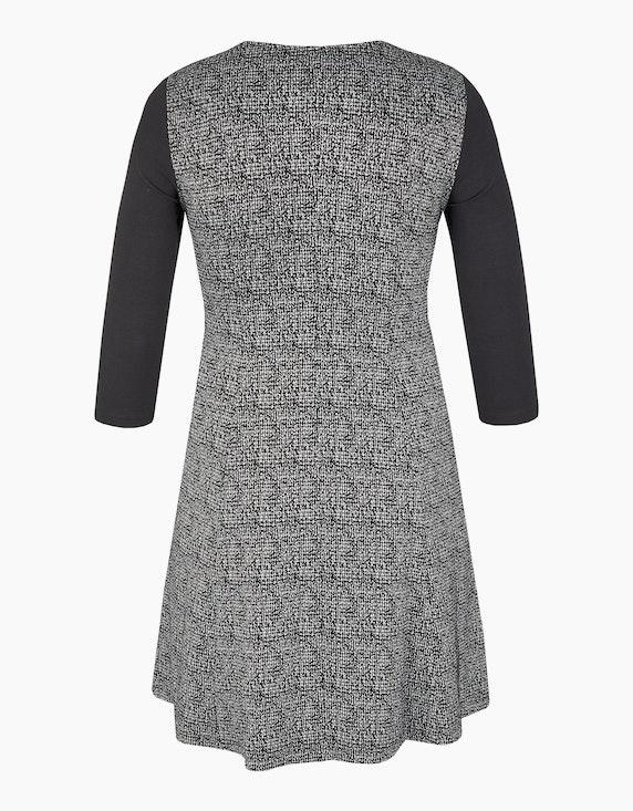 Bexleys woman Kleid im Material-Mix mit schwingendem Rockteil | ADLER Mode Onlineshop