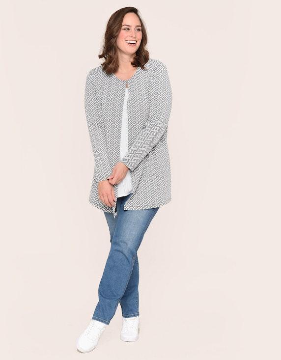 Thea langer Cardigan, Greek-Jacquard | ADLER Mode Onlineshop
