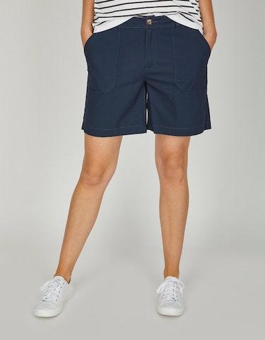 Hosen - Bermuda Hose in Leinenoptik aus reiner Baumwolle, 46  - Onlineshop Adler