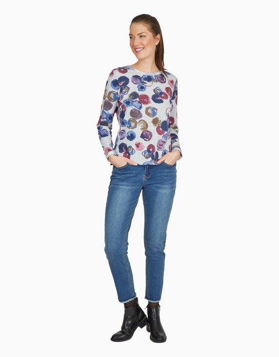 Via Cortesa Shirt mit Allover-Druck | ADLER Mode Onlineshop