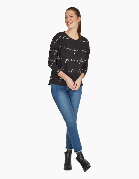 Via Cortesa Sweatshirt mit Letter-Print | ADLER Mode Onlineshop