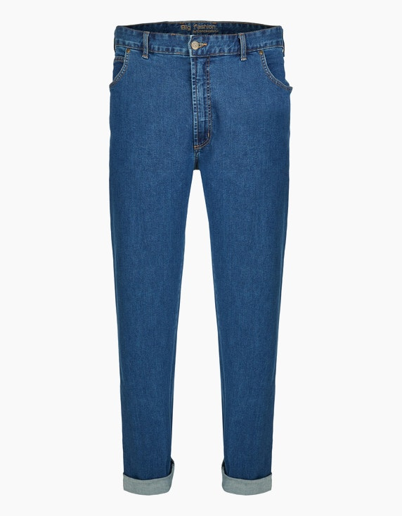 Big Fashion Basic 5-Pocket Jeans in Blau | ADLER Mode Onlineshop