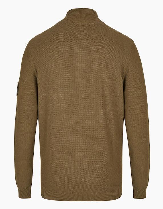 Bexleys man Unifarbene Strickjacke   ADLER Mode Onlineshop