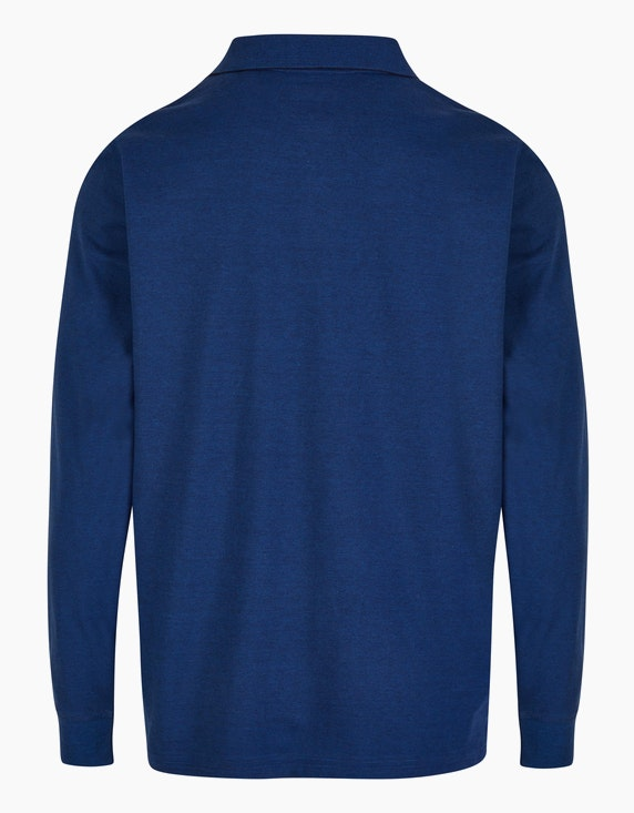 Bexleys man Fineliner Langarm-Poloshirt mit softem Brustprint   ADLER Mode Onlineshop