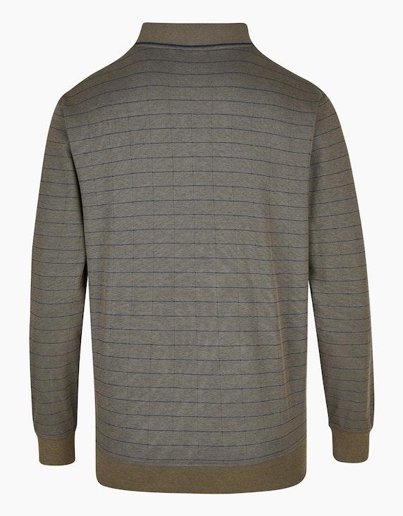 Bexleys man Langarm-Poloshirt kariert in Twotone | ADLER Mode Onlineshop