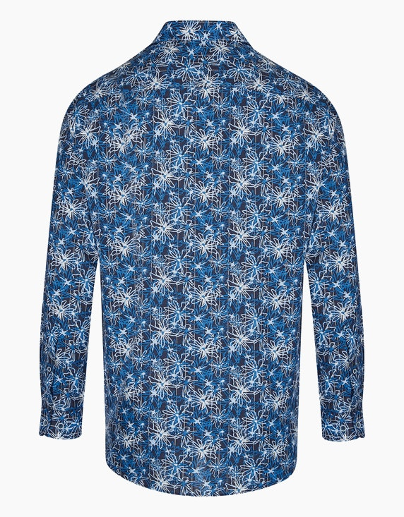 Bexleys man Freizeithemd mit großem Blumenprint, REGULAR FIT   ADLER Mode Onlineshop