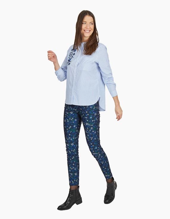 MY OWN Hemdbluse mit Stickerei im Streifen-Look, Baumwolle | ADLER Mode Onlineshop