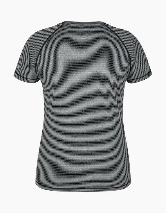 Fit&More Fitness-Shirt mit feinen Streifen | ADLER Mode Onlineshop