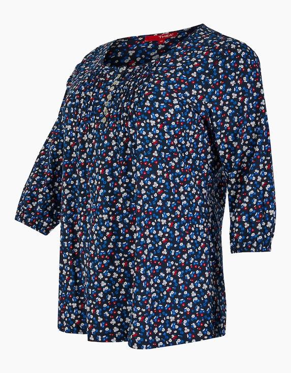 Thea Shirt mit Knopfleiste, Millefleurs, reine Baumwolle | ADLER Mode Onlineshop