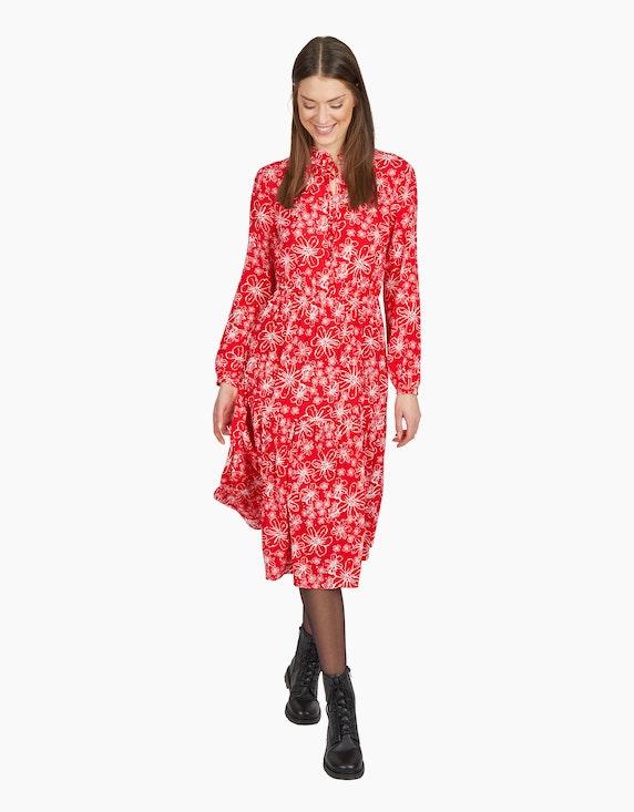 MY OWN Langes Volantkleid mit floralem Druck | ADLER Mode Onlineshop
